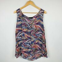 Dorothy Perkins Womens Blouse Plus Size 20 Multicoloured Tank Top Geometric