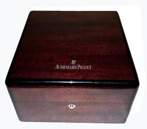 Geniune AUDEMARS PIGUET Brown Wooden Watch Box Case Ref EV.700014