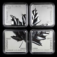 Canada 2017 $3 Maple Leaf Quartet 4-piece 1.5 oz Total Pure Silver Square Coins