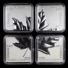 Canada 2017 $3 Maple Leaf Quartet 4-piece 1.5 oz Total Pure Silver Square Coins