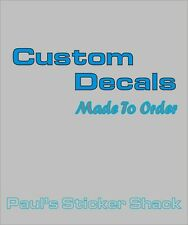 Custom Decals MADE TO ORDER -  Custom SizeUp To 200mm
