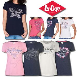Ladies T Shirts Lee Cooper Tops Womens Short Sleeve Crew Tee Size 10 12 14 16 18