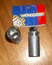 NOS 1997 Vintage Mid School BMX Steel Axle Extenders Pegs Mongoose Rear 26TPI