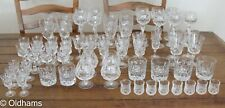 More details for large set of brierley hill crystal glasses - various - 68 individual glasses