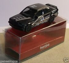 MICRO HERPA HO 1/87 MERCEDES BENZ 190 E 2.3 16 S RALLYE AMG BOSS NOIRE IN BOX