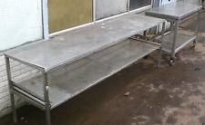 Edelstahl Roll-Tisch mit bremsbaren Rollen ca.119 x 60 x 85cm Arbeitstisch VA