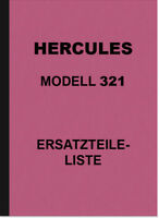 Hercules 321 Motorrad Ersatzteilliste Ersatzteilkatalog Spare Parts Catalog List