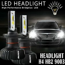 AUXITO H4 9003 LED Headlight Hi Low Beam Bulbs 18000LM FANLESS HID WHITE B7 EOA
