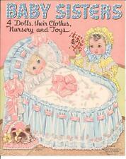 VINTAGE UNCUT 1940s BABY SISTERS PAPER DOLLS HD LASER REPRODUCTION~NO.1 SELLER
