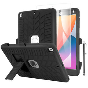 """For iPad 7th/8th Gen 10.2"""" Stand Heavy Duty Case with Screen Protector and Pen"""