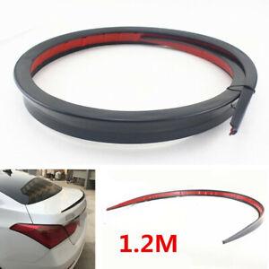 1.2M Black Flexible Soft Car Rear Roof Trunk Spoiler Rear Wing Lip Trim Decor