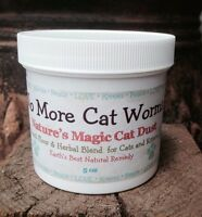 100% Natural Daily Cat Dewormer Kitten Worm Treatment and Wellness Powder