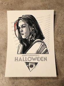Tyler Stout Halloween Laurie Strode Handbill MINT Pros And Cons Print 1978