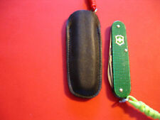 "0NE CUSTOM LEATHER SHEATH FOR SWISS ARMY VICTORINOX 84mm -3 1/4"" CADET FREE SHIP"