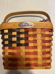 Longaberger 1998 Collectors Club 25th Anniversary Flag Basket Liner Protector EC