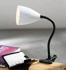 Flexi Collo Clip Lampada da Tavolo Bianco Metallo SHADE ufficio studente LETTURA STUDIO 992