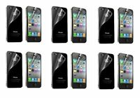 12pcs=6*(Front+Back)Clear ScreenProtector Cover Guard Film For Apple iPhone 4/4S
