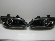 Holden Commodre VE SERIES 2 BLACK LED DRL Projector Headlights Pair New