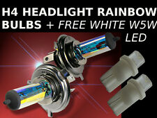 2 x H4 55/60W FORD Rainbow Headlight Car Lamp bulbs + Free W5W white led