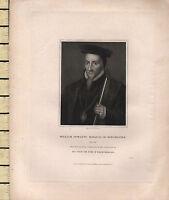 1833 Datato Georgiano Stampa ~ William Powlett Marquis Di Winchester