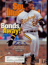 Barry Bonds Pirates SIGNED Sports Illustrated 5/4/92 COA!