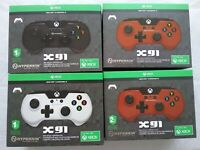 Lot 4 Hyperkin X91 Wired Xbox One / Windows 10 Controller White, Black & 2 Red