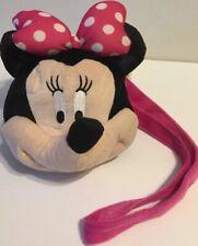 Disney Parks Minnie Mouse Plush Face Purse Pouch Wallet Disney.