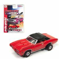 "SC329-5R Auto World HO Slot Car 1969 Pontiac GTO ""Judge Convertible"" RED"