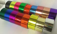 15 Different Color Chrome Tapes, 1 inch x 25 feet, Smooth, Polish Tape