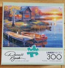 Buffalo Games 92500 Darrell Bush Autumn at the Lake Jigsaw Puzzle 300 Large Pcs