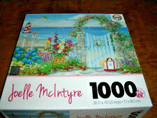 TCG TOYS 1000 PIECE PUZZLE-JOELLE McINTYRE-SUMMERTIME GATE-COMPLETE-USED