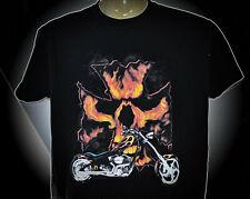 Biker T-Shirt mit einem Chopper L XL 3XL Skull Iron Cross Eiserne Kreuz
