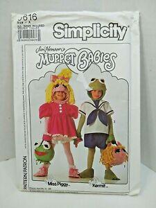 Muppet Babies Jim Henson's Kermit Miss Piggy sewing pattern Size 2-8 Kids New