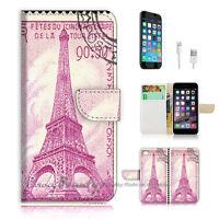 ( For iPhone 6 / 6S ) Wallet Case Cover! Eiffel Tower Paris P0492