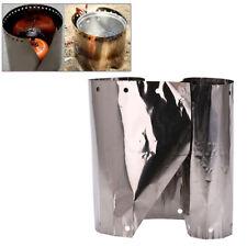 19 centimetri titanio campeggio stufa vento scudo campeggio stufa parabrezzaLO