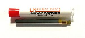 "Micro 100 Solid Carbide Boring Bar Tool .1000 Min Bore x 1-1/2"" OAL Tin Coated"