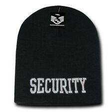 RapDom Security Public Safety Short Knit Beanie Cap [Adult - Black]