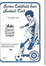 Rangers Football Non-League Fixture Programmes (1980s)