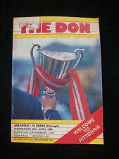 Orig.PRG    E 2  1983/84   FC ABERDEEN - FC PORTO  1/2 FINALE  !!  SELTEN