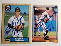 1987 & 1992 Topps Frank Tanana Auto Autograph Cards Tigers Signed Lot 726 458