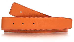 Orange Schwarz Wendegürtel Ledergürtel Gürtel Schnalle H Schliesse 31mm Leder