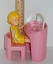 Little Tikes DOLLHOUSE Pink Vanity Makeup Table Mirror With Chair & Mom