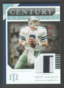 2020 National Treasures Century Materials Holo Silver #CM-TA Troy Aikman 4/25