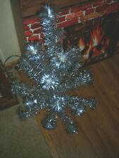 Collector'S Vtg 3 Ft Nice Retro Silver Sprakler Stainless Aluminum Xmas Tree