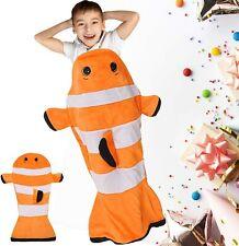 "Kids Clownfish Tail Blanket Plush Soft Fleece Sleeping Snuggle Blanket 52"" x 25"""