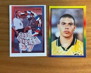 Lot 2x Ronaldo 1997 97 Navarrete Copa America #51 Rare Promo