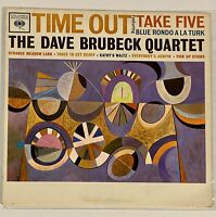 DAVE BRUBECK QUARTET Time Out Columbia CL 8192 Mono 2 Eye VG++ EX Jazz LP