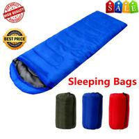 ADULT 4 SEASON SLEEPING BAG WATERPROOF SINGLE CAMPING HIKING OUTDOOR ENVELOPE