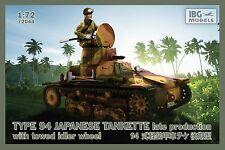 IBG 1/72 TYPE 94 Japanese Tankette Late Production w/ Towed Idler Wheel # 72044