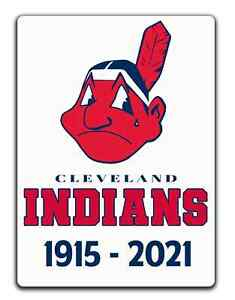 CLEVELAND INDIANS sad DECAL 1915-2021 Name Change Tribute Sticker